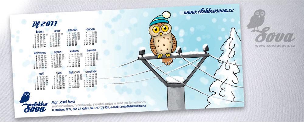ukázka grafiky a tisku novoročního přání, formát DL, barevný tisk na kartonu 250gm2, ilustraci kreslila Petra Stloukalová