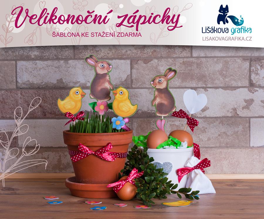 velikonoční dekorace, velikonoční zájíček, velikonoční kuřátko