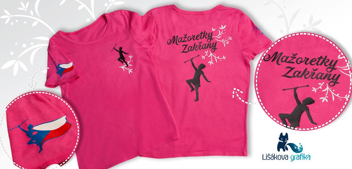 týmová trička pro mažoretky Zakřany